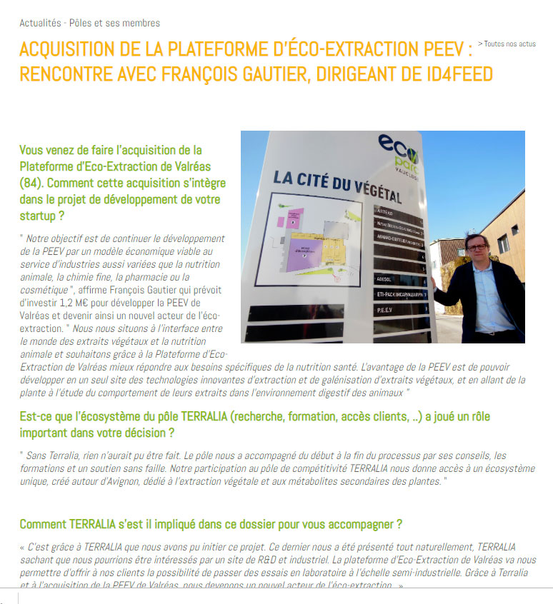 interview françois gautier manager IFEED on Terralia